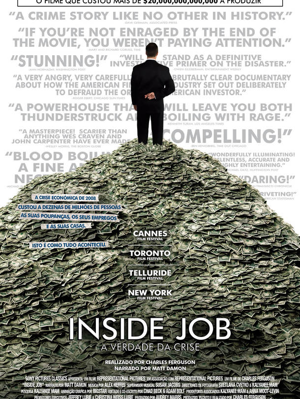 Poster do filme Inside Job - A Verdade da Crise